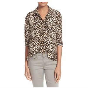Equipment Slim Signature Silk Button Front Shirt